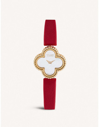 Van Cleef & Arpels Sweet Alhambra rose-gold, diamond and mother of pearl watch