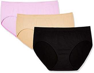 Layla's Celebrity 3 Pack Women's Seamless Hipster Nylon Spandex Underwear