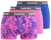 Superdry 3 Pack Shorts Regal Blue/echopink/echopink