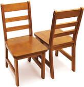 Lipper Pecan Kids Chair - Set of Two