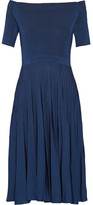 Jason Wu Off-the-shoulder Ribbed Stretch-knit Dress - Storm blue