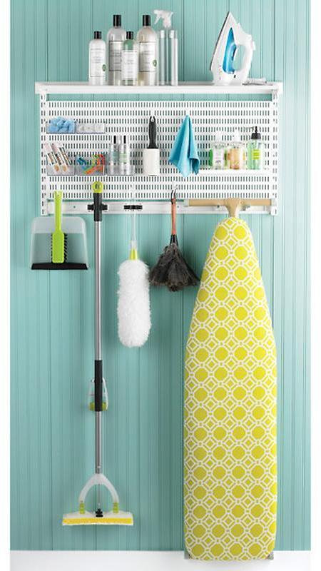 Elfa utility Laundry & Cleaning Center White
