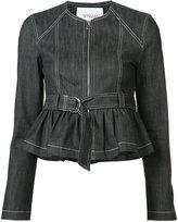 Derek Lam 10 Crosby belted denim jacket - women - Cotton/Polyester/Spandex/Elastane - 2