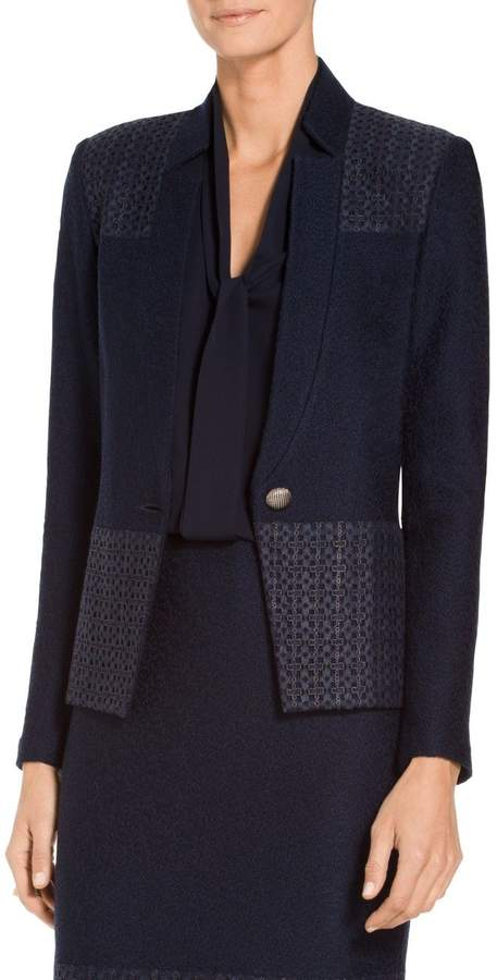 St. John Caris Knit Notch Collar Jacket