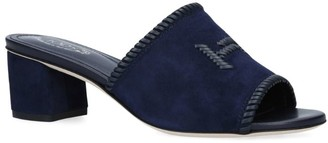 Tod's Suede Doppia Mules 50