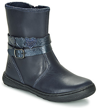 Citrouille et Compagnie LOMINE girls's Mid Boots in Blue