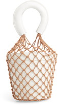 Knotty Net Faux Leather Bucket Bag