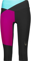 Lucas Hugh Color-block stretch-jersey capri leggings