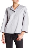 DKNY 3/4 Length Sleeve Mandarin Pullover