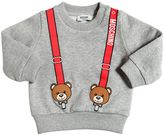 Moschino Suspenders Printed Cotton Sweatshirt