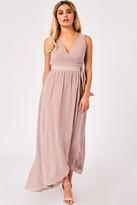 Little Mistress Phoebe Mink Maxi Wrap Dress