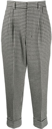 AMI Paris Houndstooth Cropped Trousers