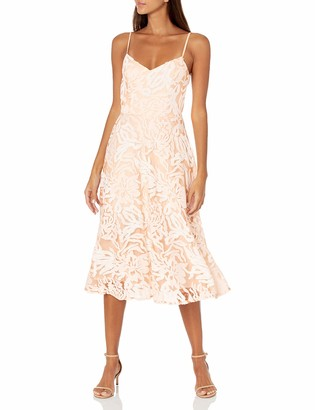 Dress the Population Women's Layla Sweetheart Fit and Flare Midi Dress