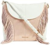 Vera Bradley White Fringe Meredith Leather Crossbody Bag