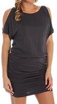 Michael Stars Women's Elbow Slit Sleeve Dress