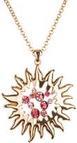 Bob Mackie Crystal Sunburst Pendant with Chain