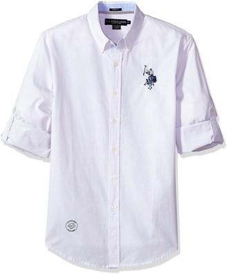 U.S. Polo Assn. Men's Long Sleeve Classic Fit Striped Shirt