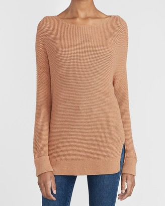 Express Thermal Stitch Tunic Sweater