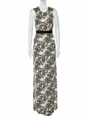 Just Cavalli Floral Print Long Dress w/ Tags