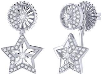 Lucky Star Stud Earrings In Sterling Silver