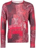 Etro patchwork print paisley sweater