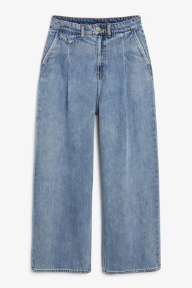 Monki Front pleat jeans