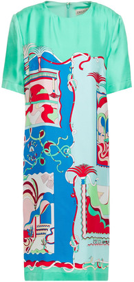 Emilio Pucci Printed Silk-twill Dress