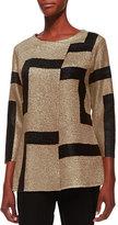 Berek 3/4-Sleeve Abstract Modern Jacket, Gold