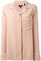 Theory polka dots shirt - women - Silk - M