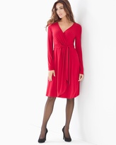 Soma Intimates Faux Wrap Short Dress Ruby