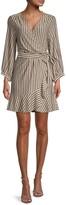 Thumbnail for your product : Momonì Pesaro Metallic Stripe Wrap Dress