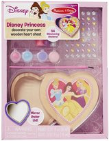 Melissa & Doug Disney Princess Decorate-Your-Own Wooden Heart Chest Toy