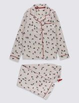 Marks and Spencer Pure Cotton Penguin Pyjamas (1-14 Years)