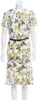 Carolina Herrera Belted Button-Up Dress