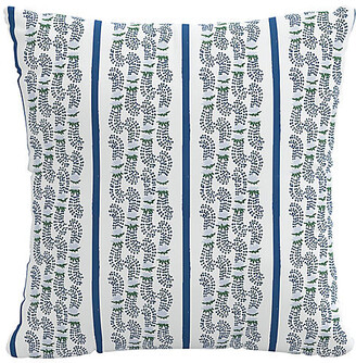 Minnie Driver English Living Agave Stripe 20x20 Pillow - Indigo - Indigo/ivory/multi