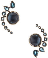 Stephen Dweck Multi-Stone Doublet Jacket Earrings. Blue