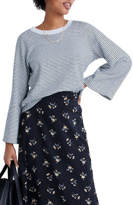 Madewell Stripe Terry Raglan Sweatshirt