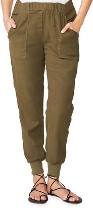 Monrow Cuffed Woven Linen-Blend Jogger Pants