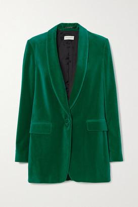 Dries Van Noten Blancho Cotton-velvet Blazer - Green