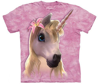 The Mountain Tee Shirts PINK - Pink Cutie Pie Unicorn Sublimated Tee - Kids