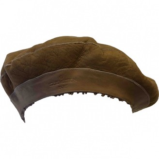 Louis Vuitton Beige Suede Hats