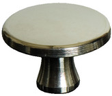Staub Large Nickel Plated Brass Knob