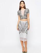 Asos NIGHT Embellished Pencil Skirt Co-ord