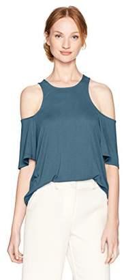 BCBGMAXAZRIA Women's Kelsey Knit Cold Shoulder Top