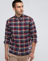 Penfield Barhead Check Shirt Buttondown Flannel Regular Fit in Red