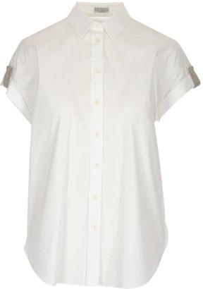 Brunello Cucinelli Embellished Trim Short Sleeves Shirt