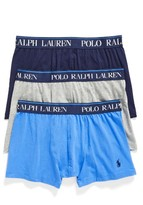 Polo Ralph Lauren Men's 3-Pack Stretch Cotton Boxer Briefs