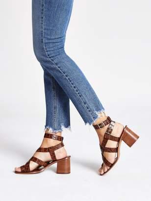 River Island Leather Toe Ring Block Heel Sandals - Brown