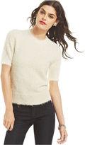 Keds Juniors' Short-Sleeve Eyelash-Knit Sweater