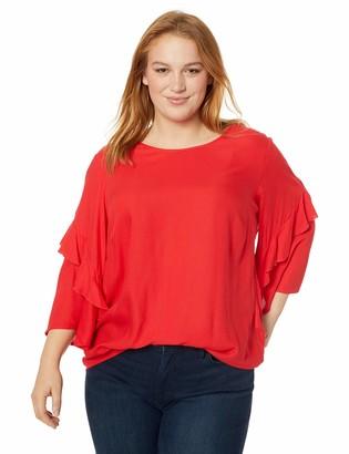 Junarose Women's Plus Size Lona Three Quarter Sleeve Blouse